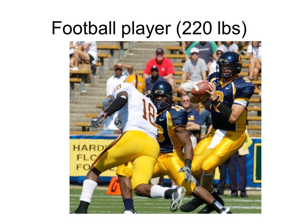 Football player (220 lbs)