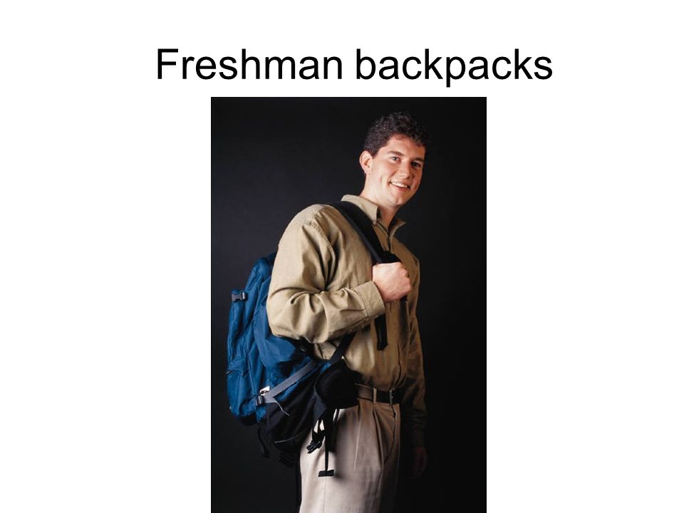 Freshman backpacks