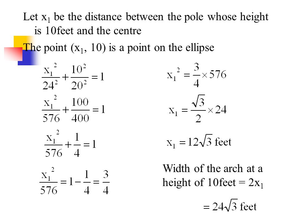 Let x1 be the distance between the pole whose height is 10feet and the centre