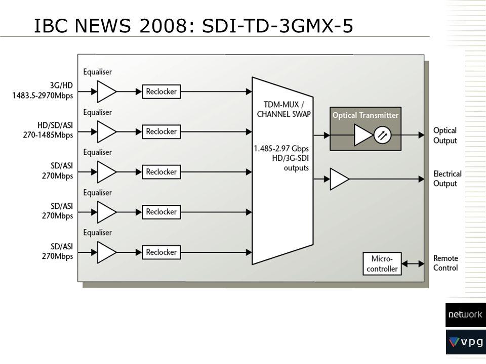 IBC NEWS 2008: SDI-TD-3GMX-5
