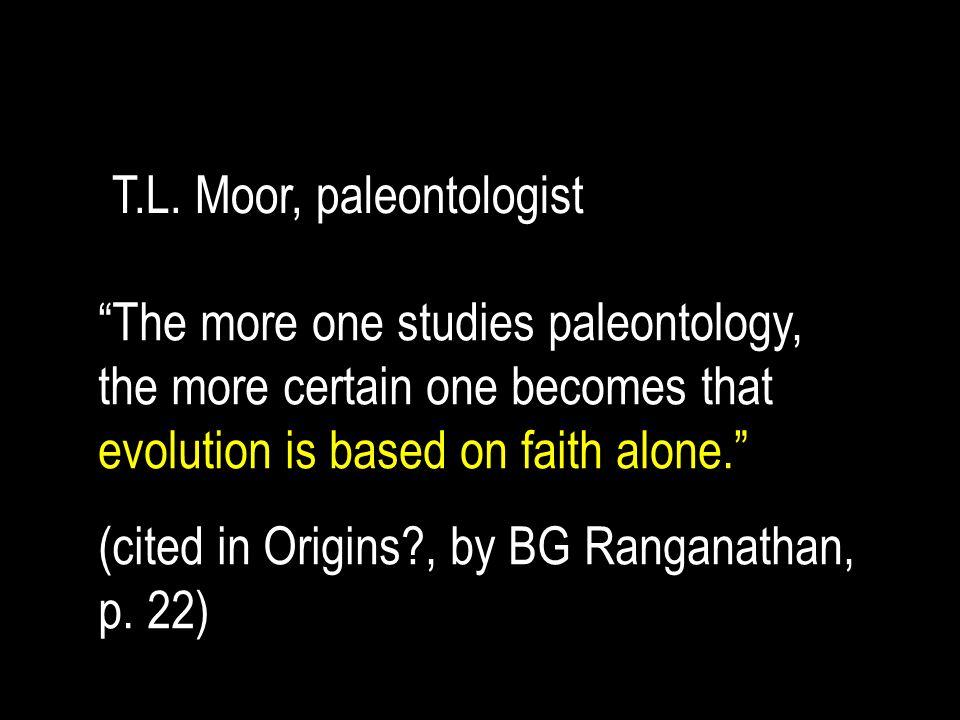 T.L. Moor, paleontologist