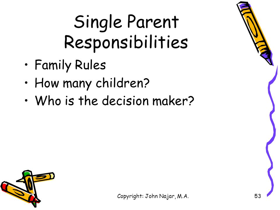 Single Parent Responsibilities
