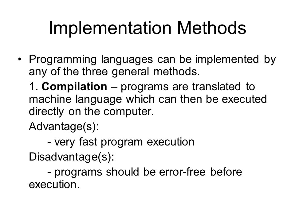 Implementation Methods