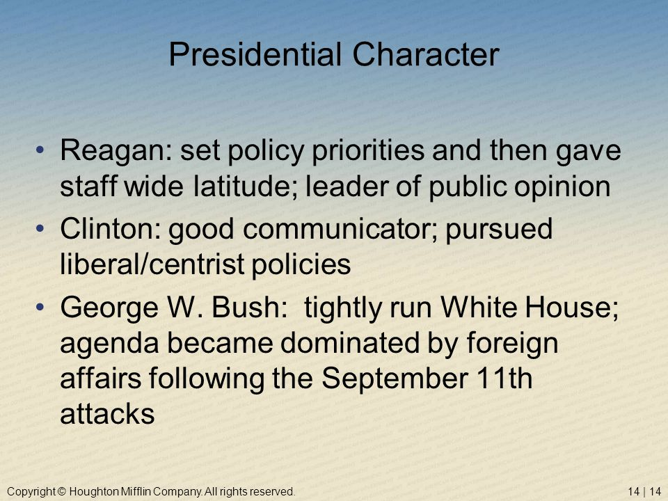 Presidential Character