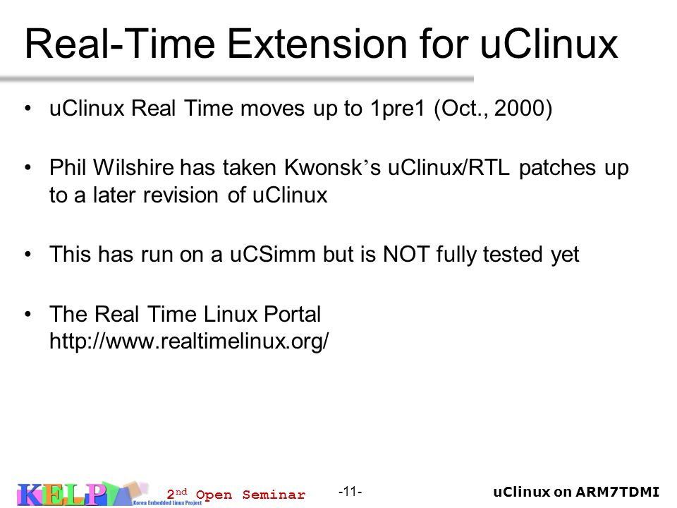 Real-Time Extension for uClinux