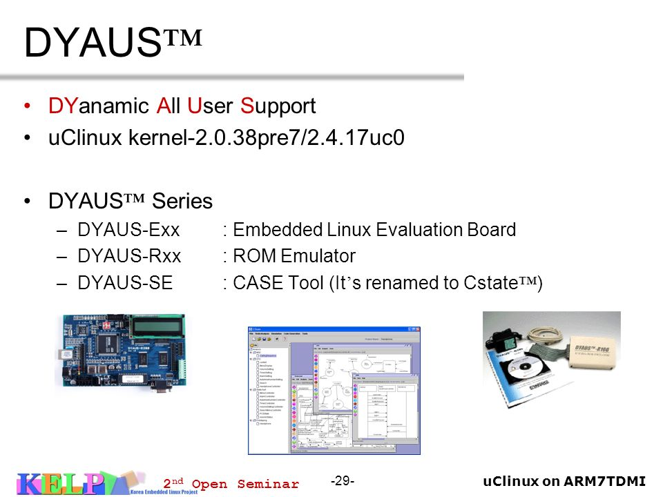 DYAUS™ DYanamic All User Support uClinux kernel-2.0.38pre7/2.4.17uc0
