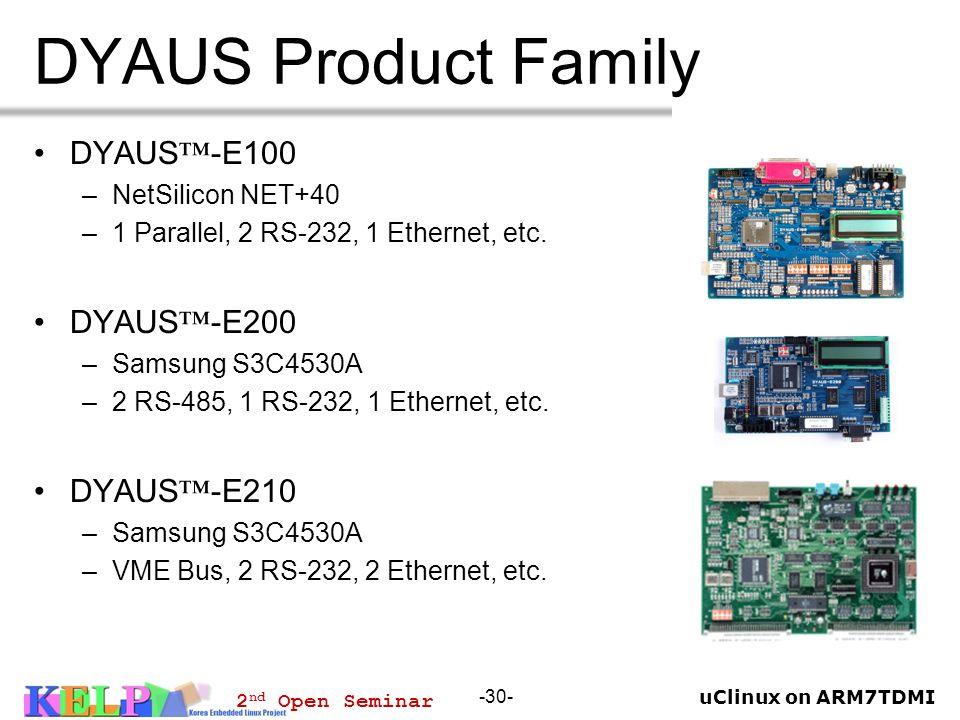 DYAUS Product Family DYAUS™-E100 DYAUS™-E200 DYAUS™-E210