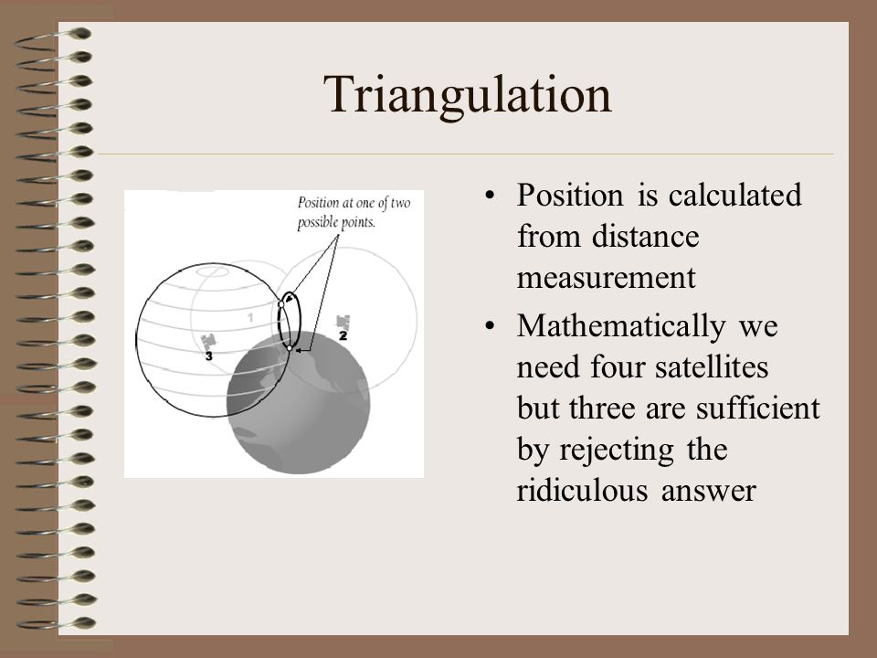 Triangulation Position is calculated from distance measurement