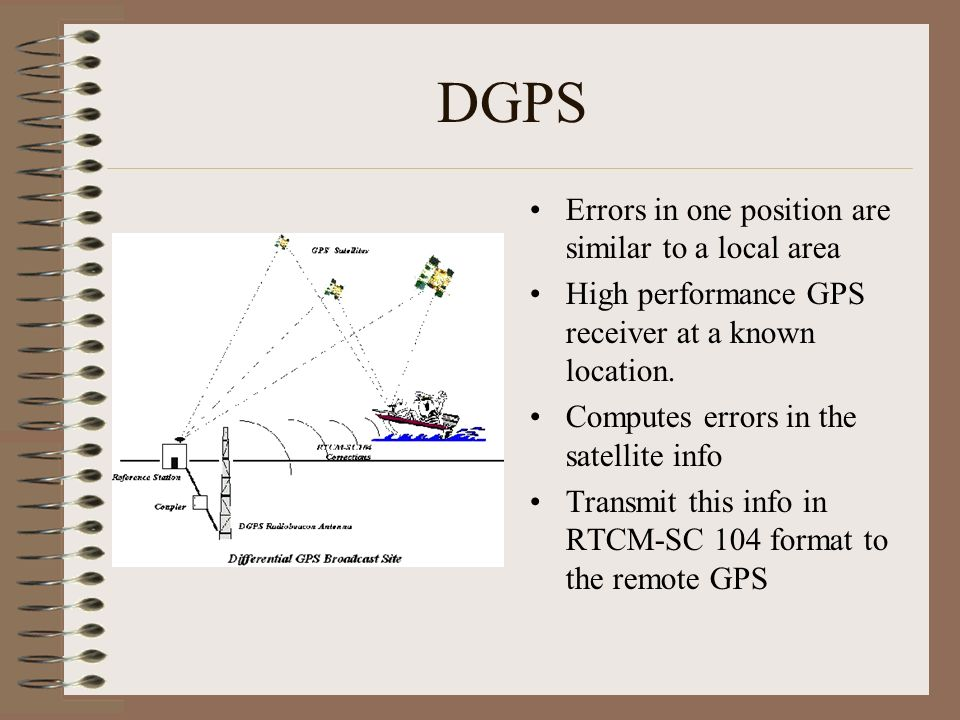 DGPS Errors in one position are similar to a local area