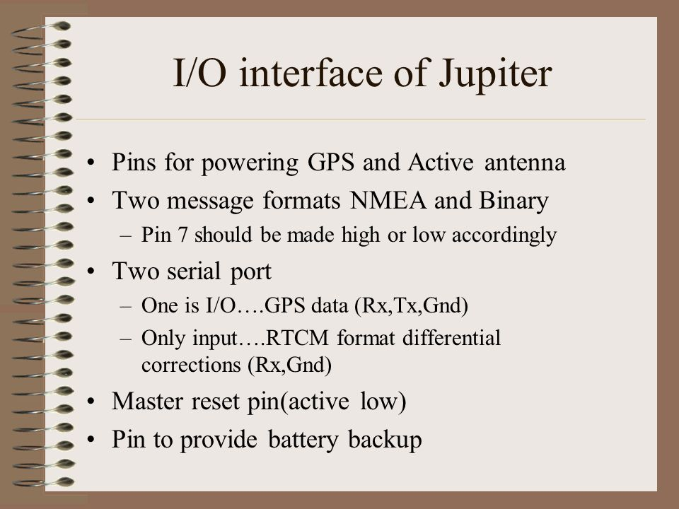 I/O interface of Jupiter