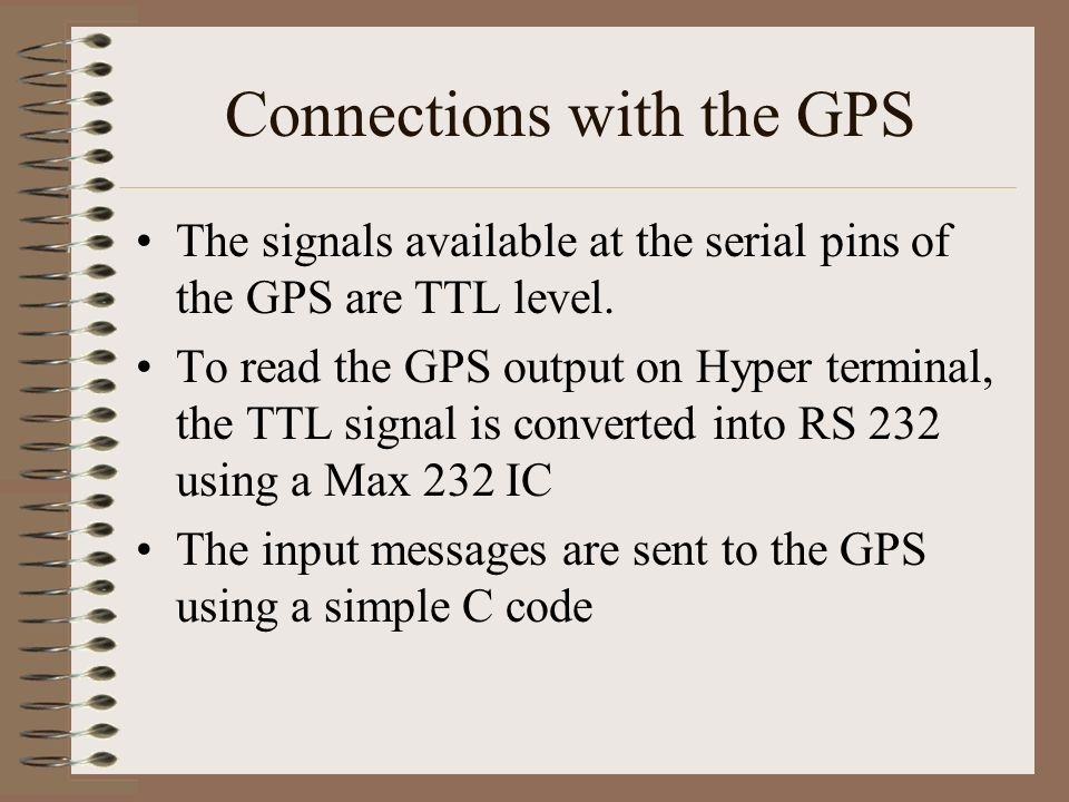 Connections with the GPS