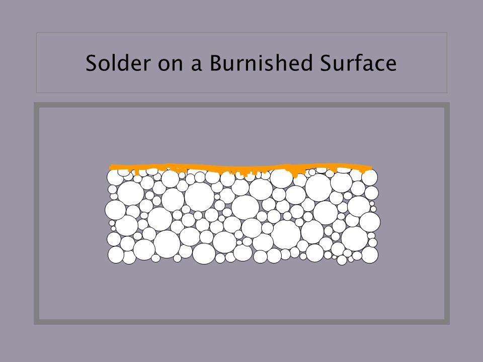 Solder on a Burnished Surface