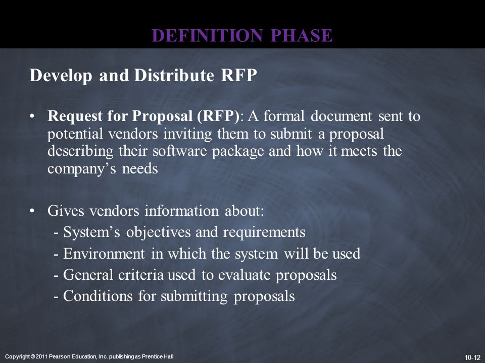 Develop and Distribute RFP