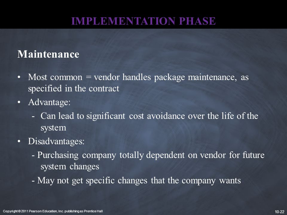 IMPLEMENTATION PHASE Maintenance