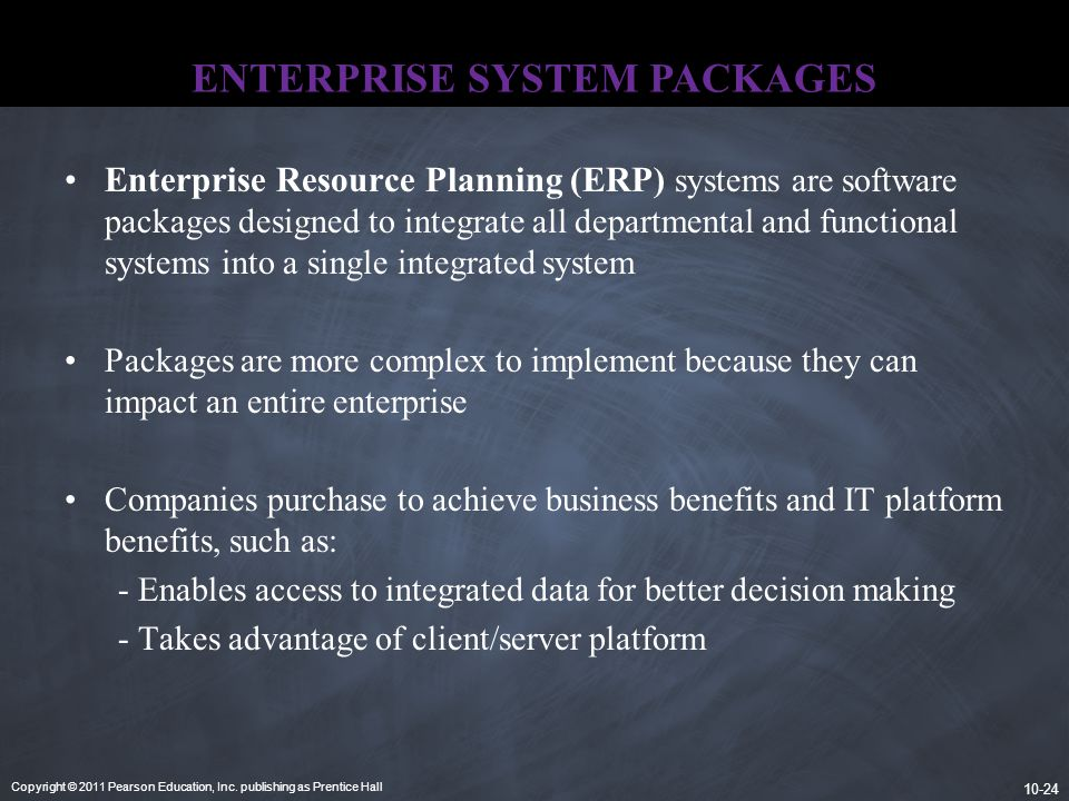 ENTERPRISE SYSTEM PACKAGES