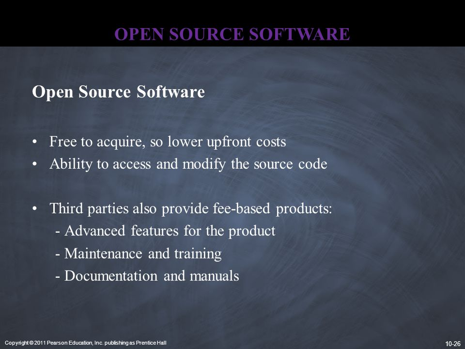 OPEN SOURCE SOFTWARE Open Source Software