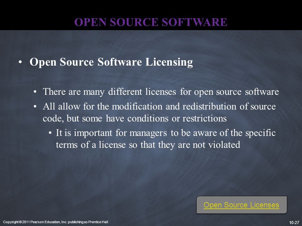 Open Source Software Licensing