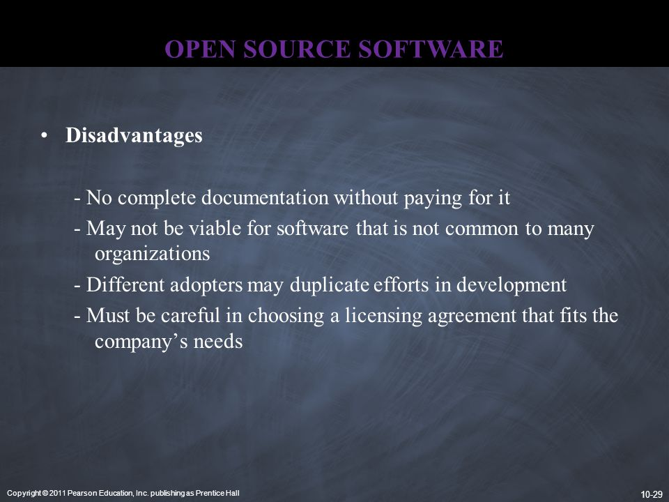 OPEN SOURCE SOFTWARE Disadvantages