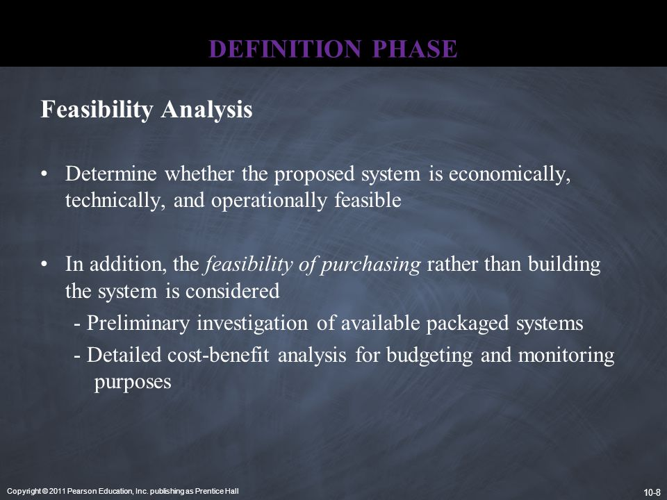 DEFINITION PHASE Feasibility Analysis