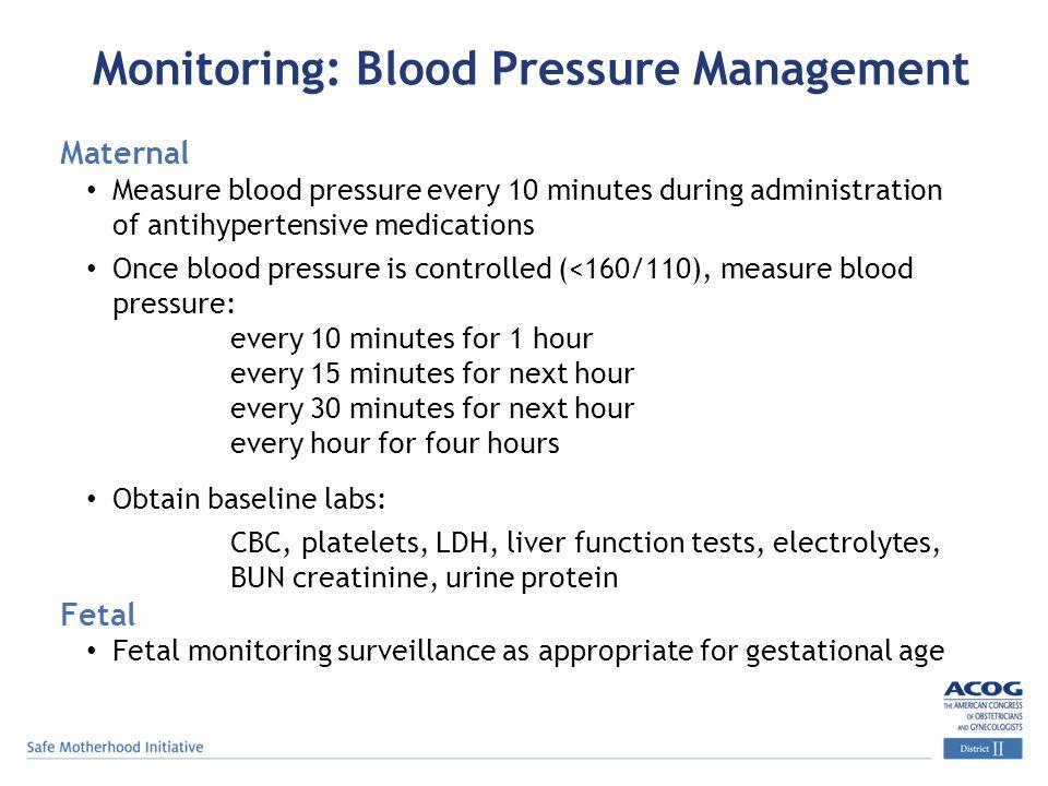 Monitoring: Blood Pressure Management