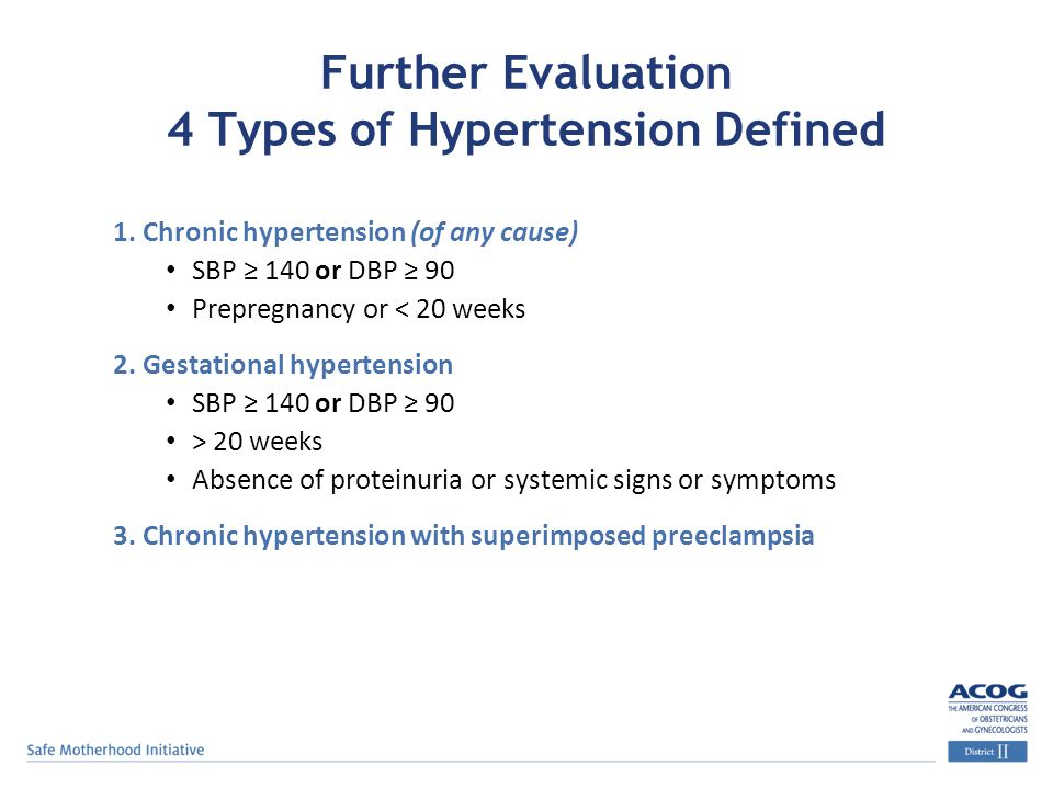 Further Evaluation 4 Types of Hypertension Defined