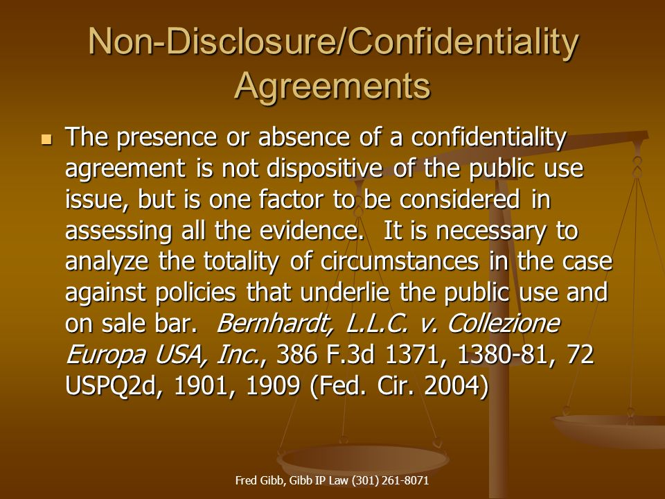 Non-Disclosure/Confidentiality Agreements