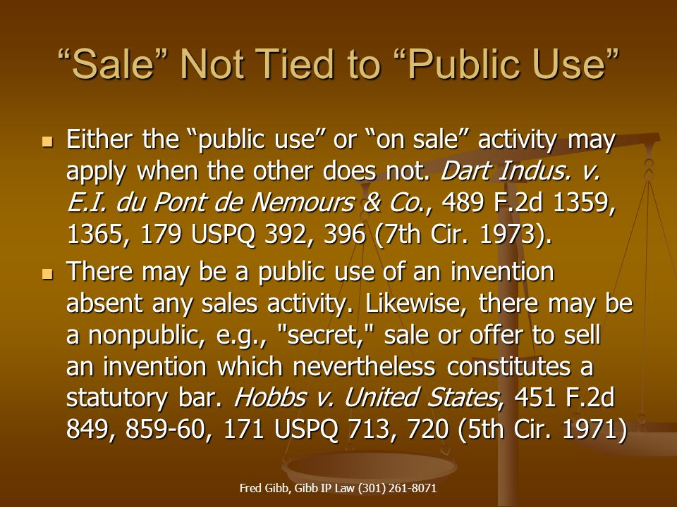 Sale Not Tied to Public Use