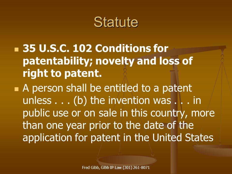 Fred Gibb, Gibb IP Law (301) 261-8071