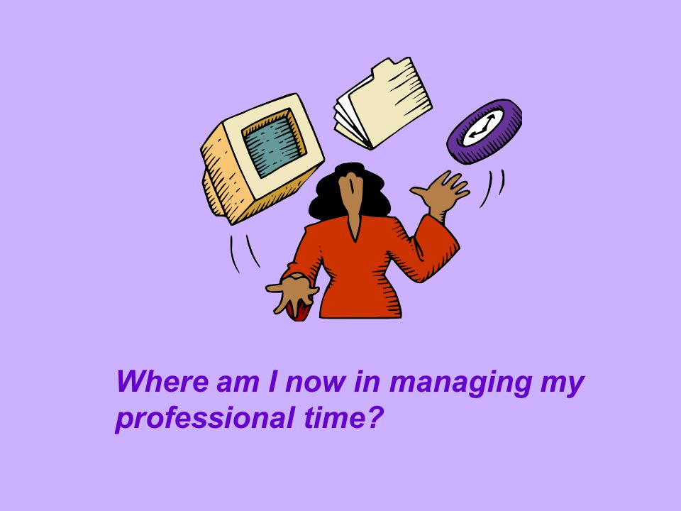 Where am I now in managing my professional time