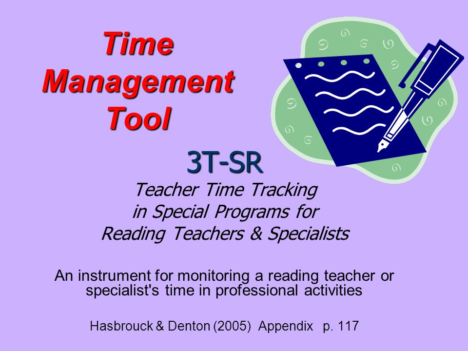 Time Management Tool 3T-SR Teacher Time Tracking