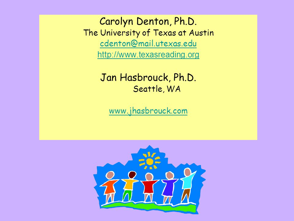Reading Coaches J. Hasbrouck, Ph.D.