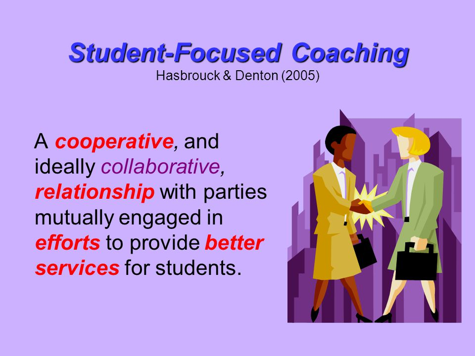 Student-Focused Coaching Hasbrouck & Denton (2005)