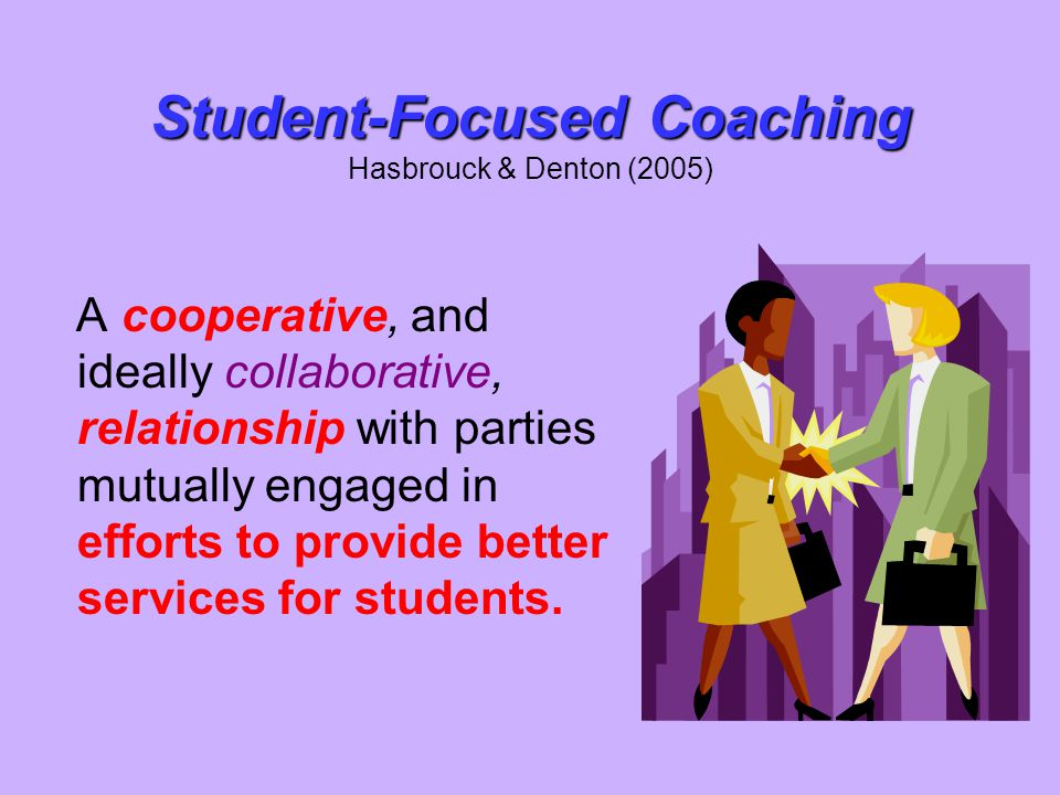 Student-Focused Coaching Hasbrouck & Denton (2005)