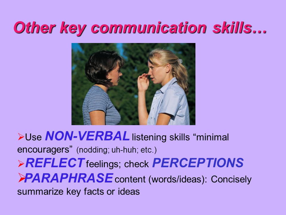 Other key communication skills…
