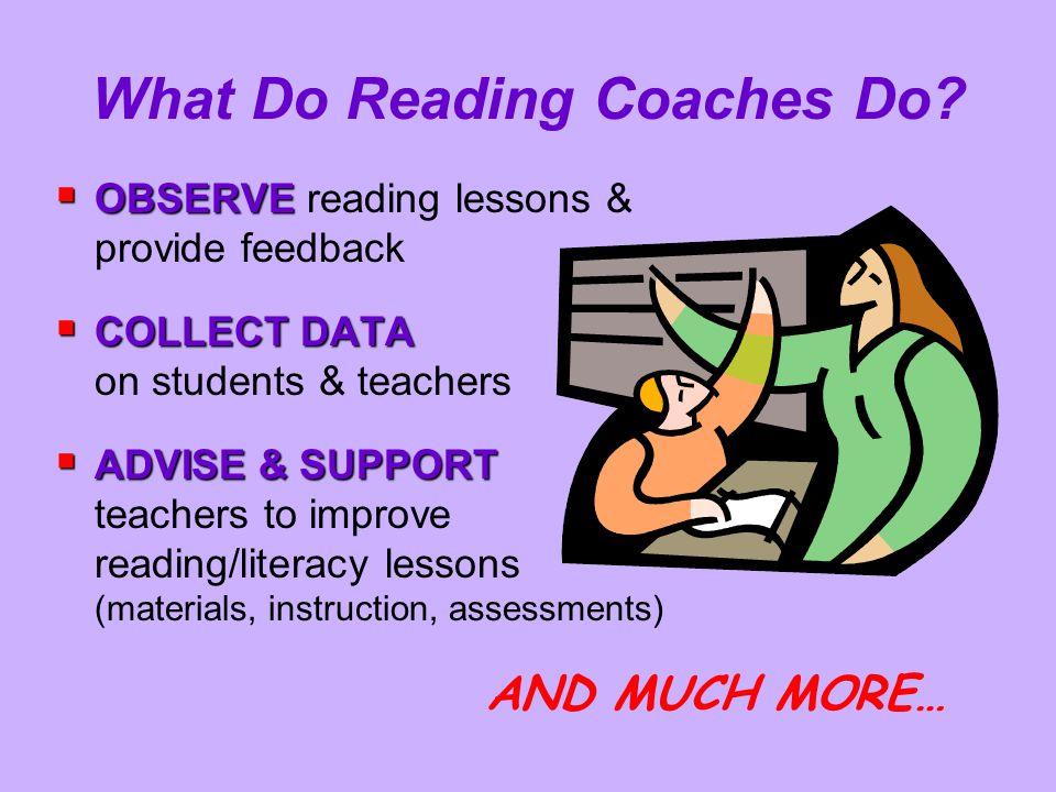 What Do Reading Coaches Do