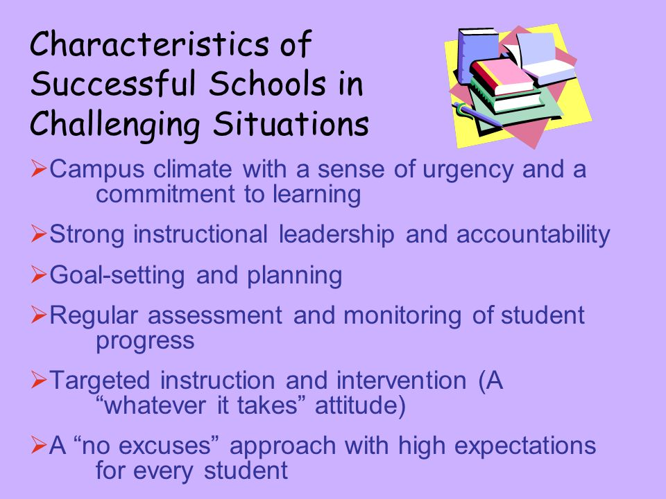 Characteristics of Successful Schools in Challenging Situations