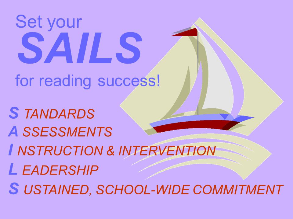 SAILS Set your for reading success! S TANDARDS