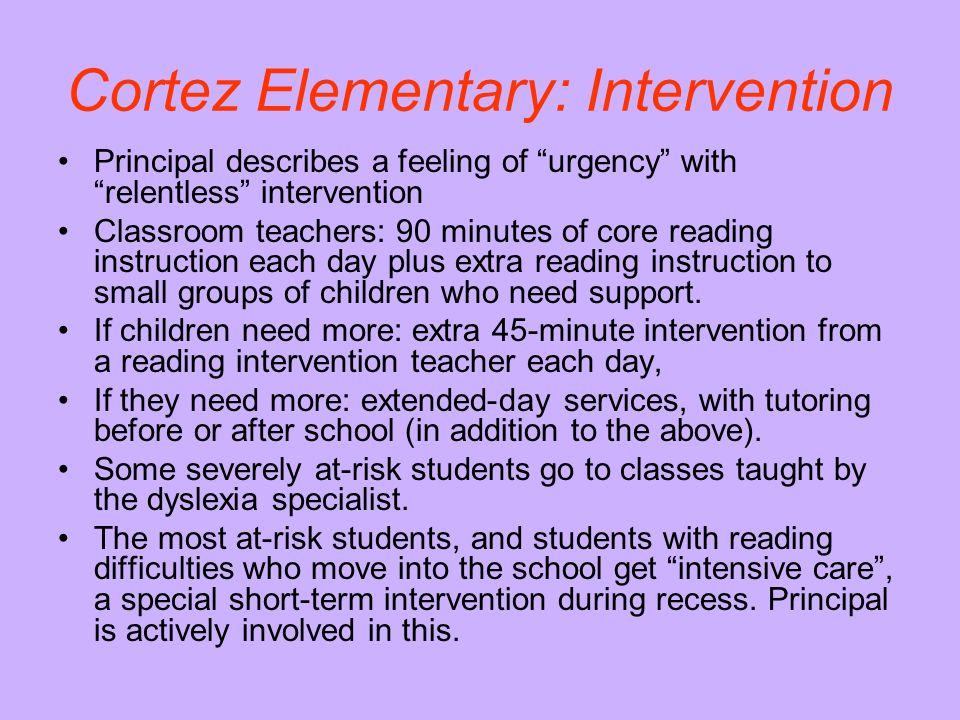Cortez Elementary: Intervention