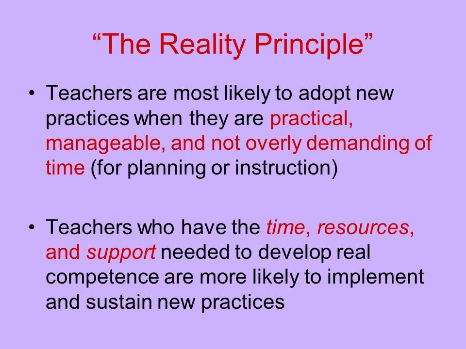 The Reality Principle