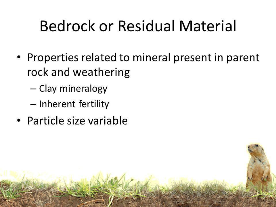 Bedrock or Residual Material