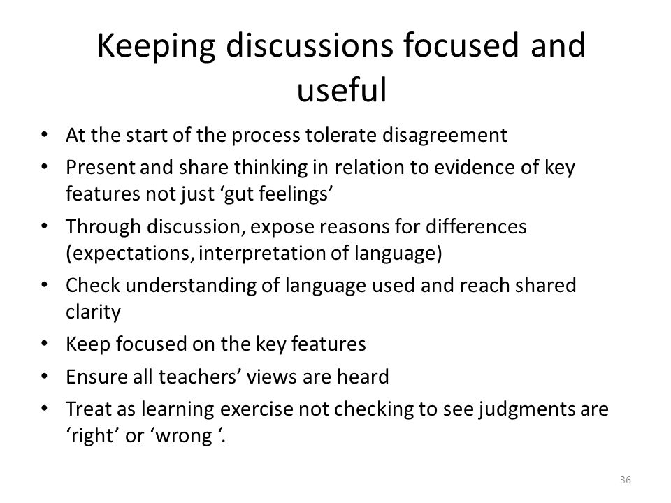 Keeping discussions focused and useful