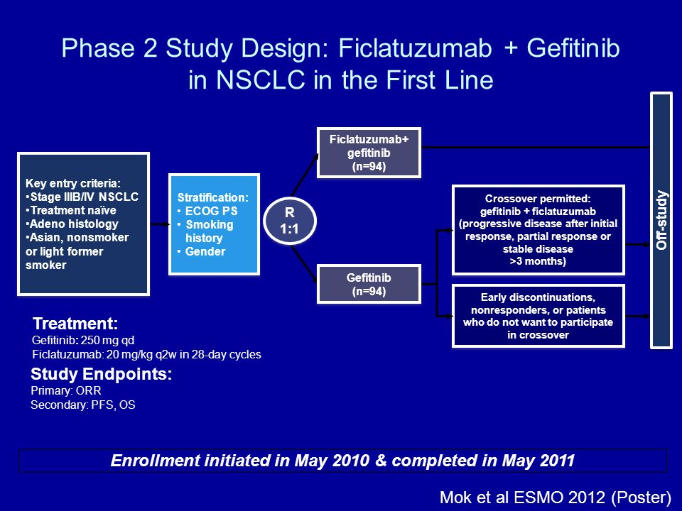 Phase 2 Study Design: Ficlatuzumab + Gefitinib in NSCLC in the First Line