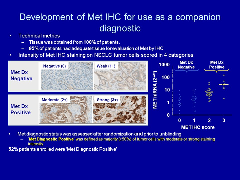 Development of Met IHC for use as a companion diagnostic