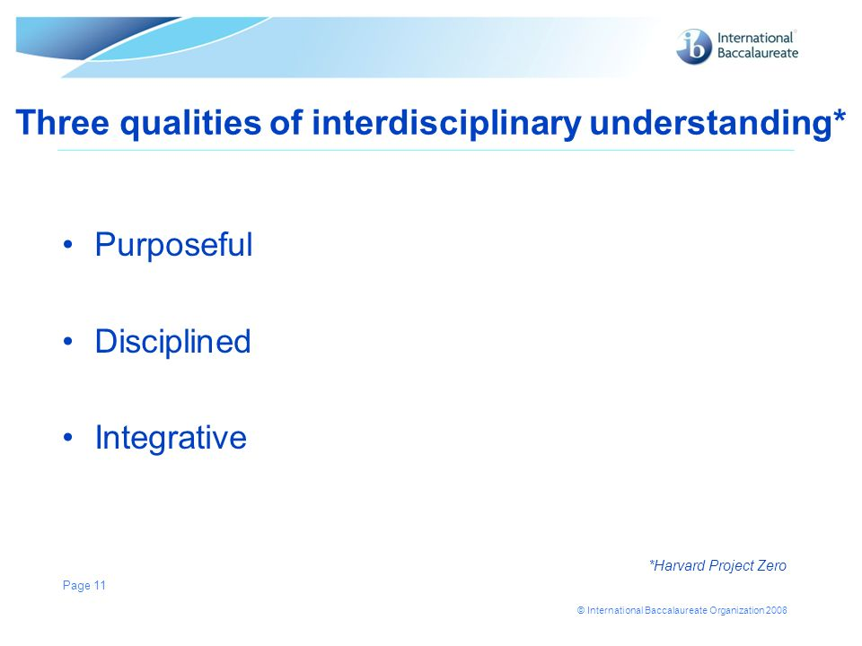 Three qualities of interdisciplinary understanding*