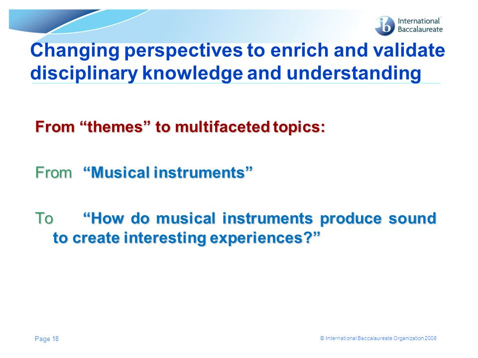 Changing perspectives to enrich and validate disciplinary knowledge and understanding