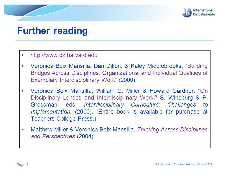 Further reading http://www.pz.harvard.edu
