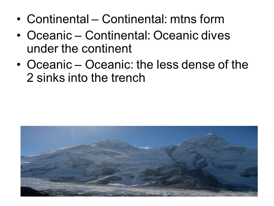 Continental – Continental: mtns form