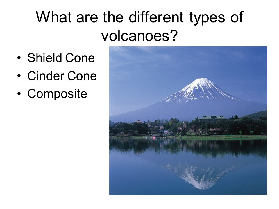 What are the different types of volcanoes