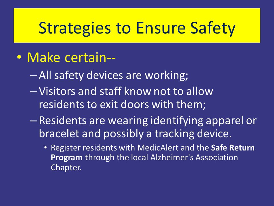 Strategies to Ensure Safety
