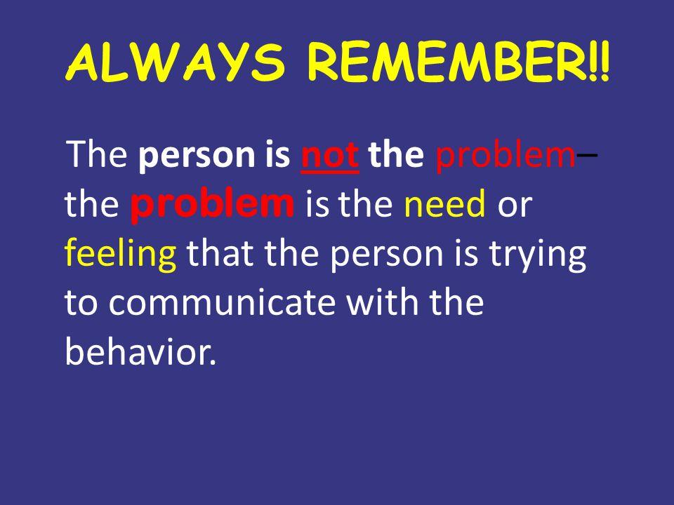 ALWAYS REMEMBER!.
